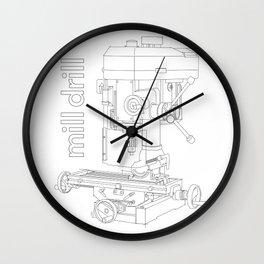 Mill Drill - Milling/Drilling Machine Wall Clock