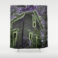 scary Shower Curtains featuring Scary Night by MehrFarbeimLeben