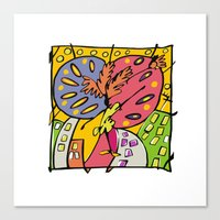 brasil Canvas Prints featuring Brasil by Ana Sanz Durán