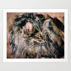 Norwegian Forest Cat Art Print