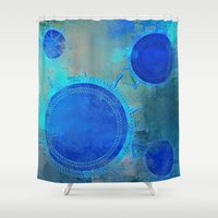 nautical Shower Curtains featuring Nautical by JuniqueStudio