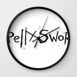 Spell/Sword - Black Logo Wall Clock
