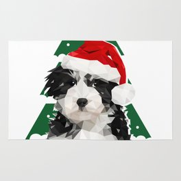 A Puppy for Xmas Rug