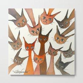Poughkeepsie Whimsical Cats Metal Print