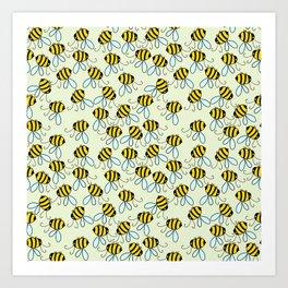 Bumble Bees of Summer Art Print