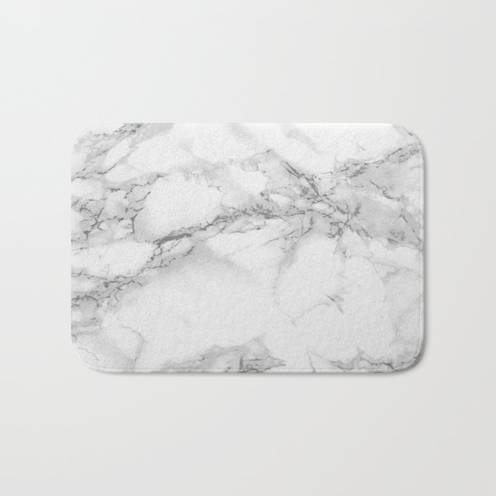 Marble Bath Mat By Colorandpatterns