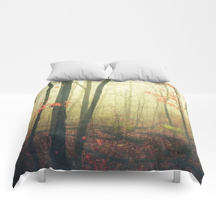The Woods are Lovely Dark and Deep Comforters