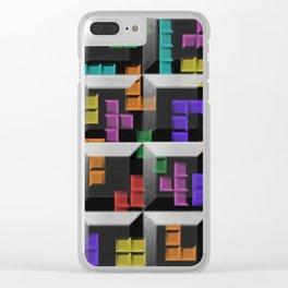 Tetris author print Clear iPhone Case