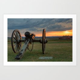 Gettysburg Cannon Sunset Art Print
