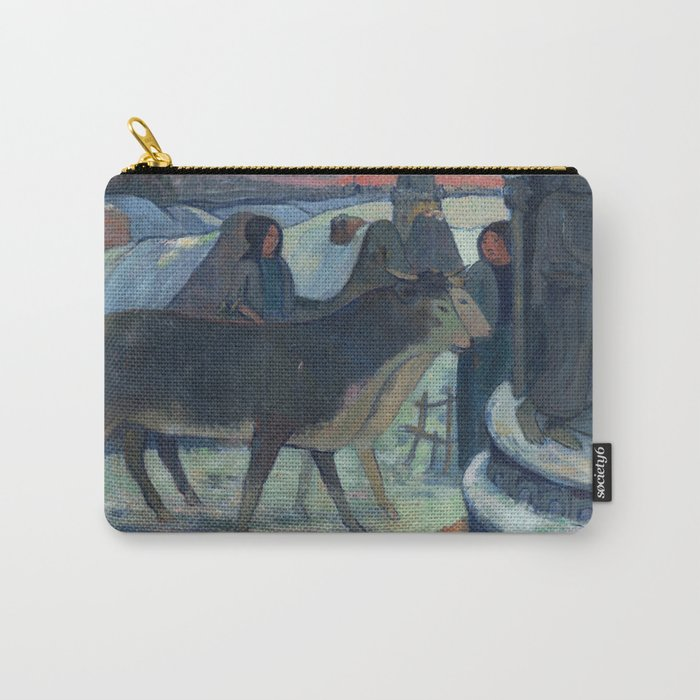 Christmas Night, The Blessing of the Oxen, Gauguin Carry-All Pouch