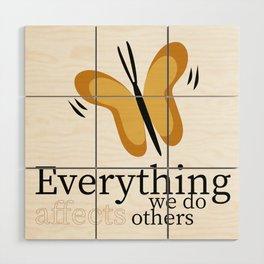 WISE BUTTERFLY Wood Wall Art