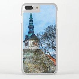 Tallinn art 12 #tallinn #city Clear iPhone Case