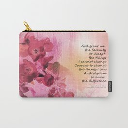 Serenity Prayer Quince Fence 3 Pink Carry-All Pouch