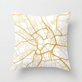 BRADFORD ENGLAND CITY STREET MAP ART Throw Pillow