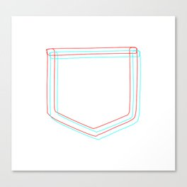 3D Pocket Canvas Print