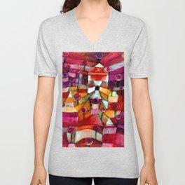 Paul Klee Rose Garden Unisex V-Neck