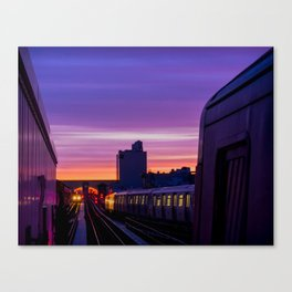 Commuter Sunrise Canvas Print
