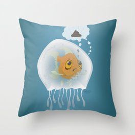 Jellyfishfish - Oh Poop! Throw Pillow