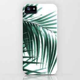 Palm Leaves Green Vibes #8 #tropical #decor #art #society6 iPhone Case