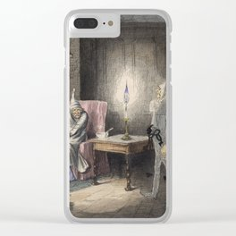 Christmas Carol - Marley's Ghost Clear iPhone Case