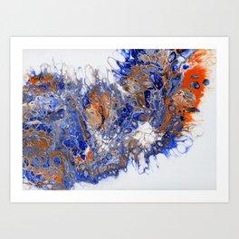 Team Splash, Orange and Blue Art Print