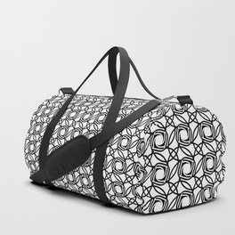 SHUTTER classic black and white repeat camera lens pattern Duffle Bag
