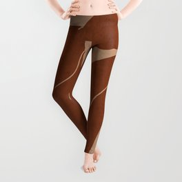 Abstract Nude Art Leggings