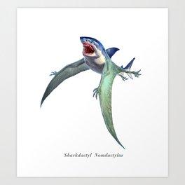 Sharkdactyl Nomdactylus Art Print