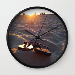 Flip Flops On The Beach Wall Clock