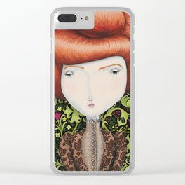 Lady Amelia Clear iPhone Case