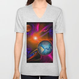 Full moon - Fascination Blood moon - Abstract Unisex V-Neck