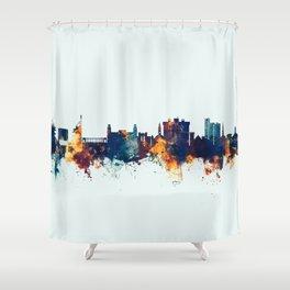 Fayetteville Arkansas Skyline Shower Curtain