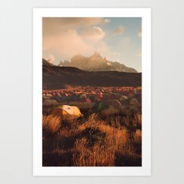 Patagonia Chile Morning Camp Art Print