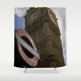 London Underground at BigBen Shower Curtain