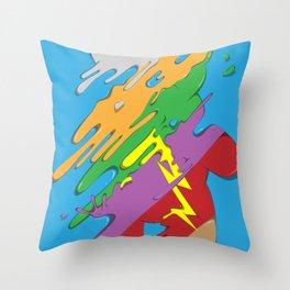 Rainbow Bear Throw Pillow