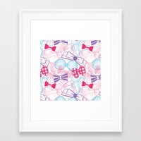 bows Framed Art Prints featuring Bows by Wendy Ding: Illustration