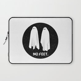 No Feet Ghosts Black and White Graphic Laptop Sleeve