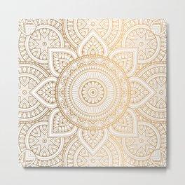 Gold Mandala Metal Print