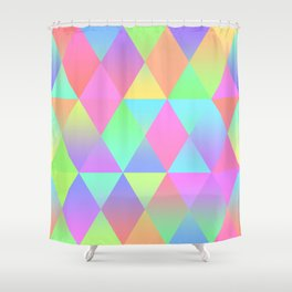 Colorful Geometric Pattern Prism Holographic Foil Triangle Texture Shower Curtain