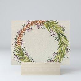 Fern Wreath Watercolour Mini Art Print