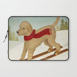 Doodle Schnoodle Whoodle Labradoodle Goldendoodle Ski Dog Laptop Sleeve