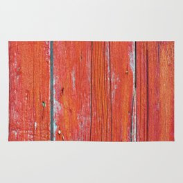 Red Rustic Fence rustic decor Rug
