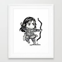 kili Framed Art Prints featuring Kili Chibi by KuroCyou