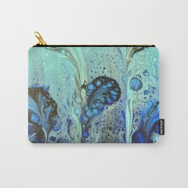 Seaweed Garden with Blue and Aqua Seafoam Bubbles Carry-All Pouch