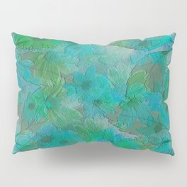 Painterly Summer Morning Floral Abstract Pillow Sham