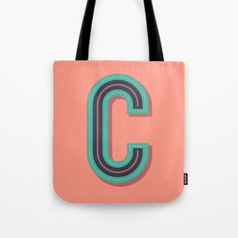 Typography series #C Tote Bag