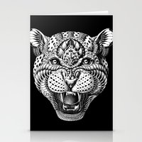 leopard Stationery Cards featuring Leopard by BIOWORKZ