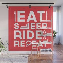 Eat Sleep Ride Repeat Wall Mural