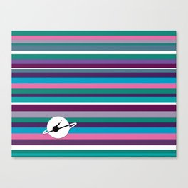 Space Microbres colored pattern Canvas Print
