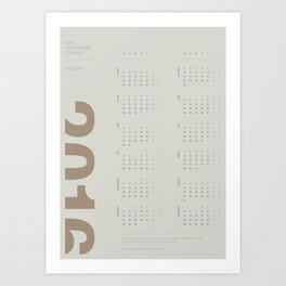 2016 Calendar | Earth Art Print